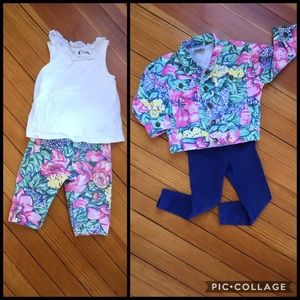  Guess Baby Girl Floral Denim Jacket & Pants